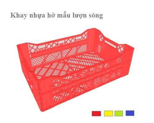 Khay nhựa đan lưới 595x400x190mm