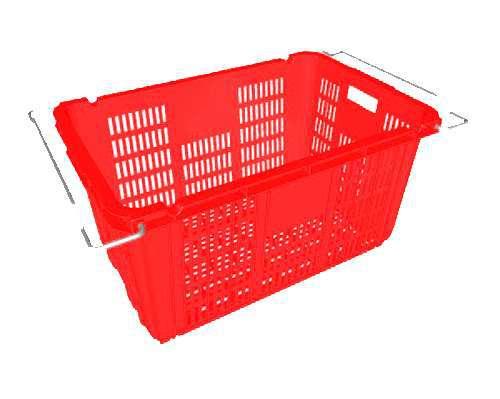 Thùng nhựa hở có quai HS011, thùng đan lưới