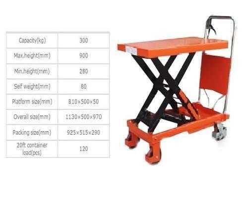 xe nâng mặt bàn 300kg tt300, xe nâng cây cảnh