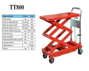 Xe nâng mặt bàn 800 kg hiệu Meditek TT800 giá rẻ