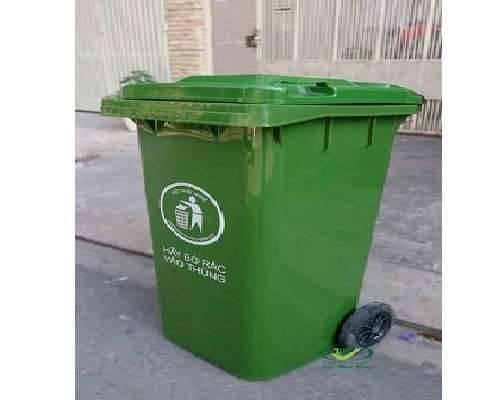 Thùng rác 240 lít xanh lá giá rẻ