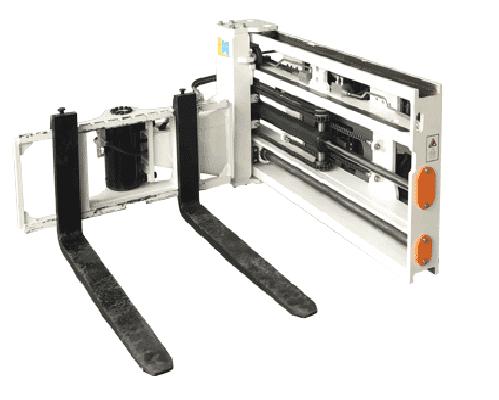 Bộ càng quay ngang 3 bên - bộ xúc 3 mặt dùng cho xe nâng