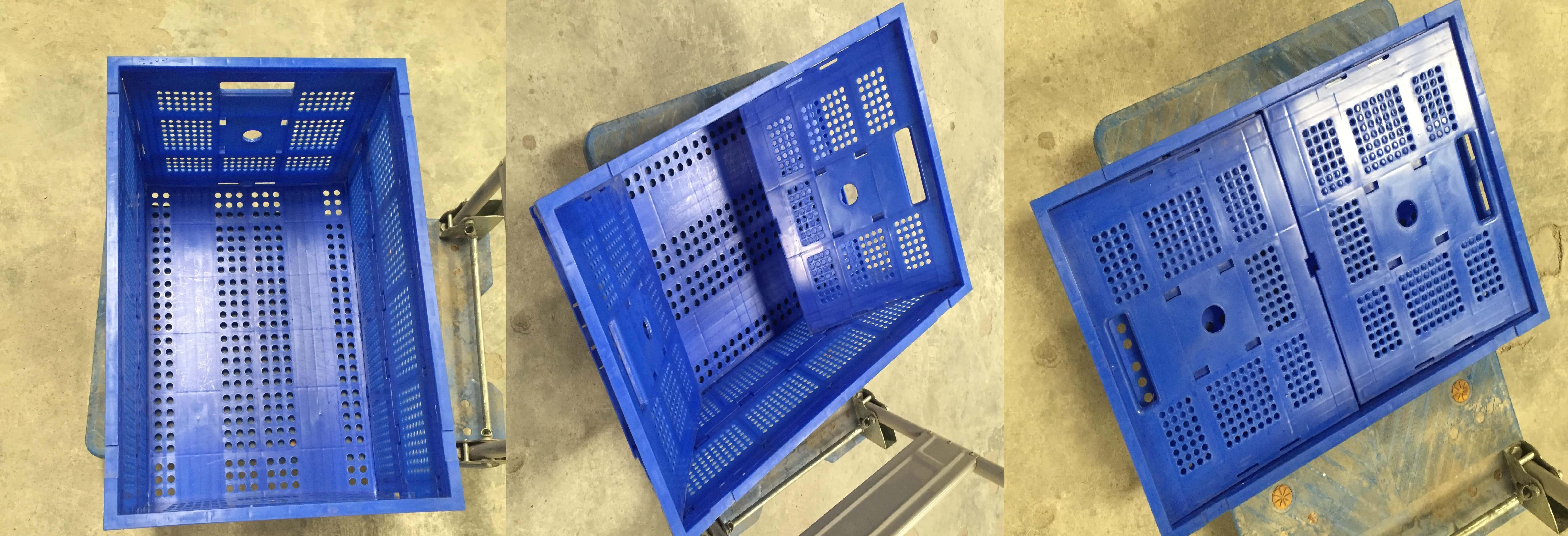 Thùng nhựa gấp xếp tiết kiệm diện tích