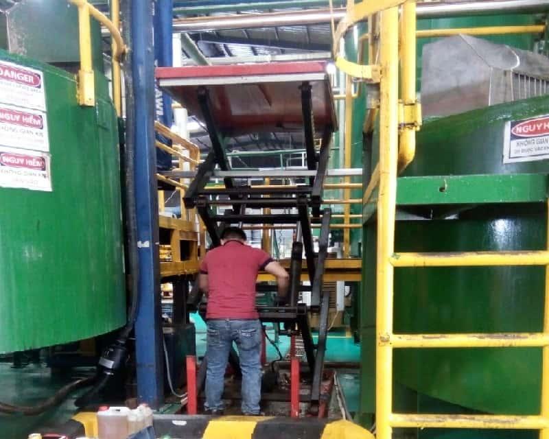 Bảo trì bảo dưỡng thang nâng, bàn nâng thủy lực