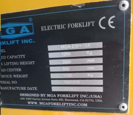 xuất xứ xe nâng điện 3m càng cắt kéo chữ x