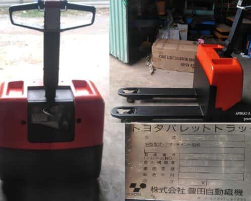 Xe nâng điện kéo tay hiệu Toyota Nhật cũ