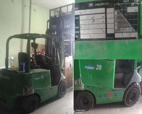 Xe nâng điện 3 tấn cao 4.3m hiệu Nichiyu