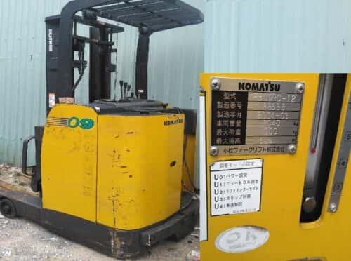 Xe nâng điện 900kg đứng lái hiệu Komatsu