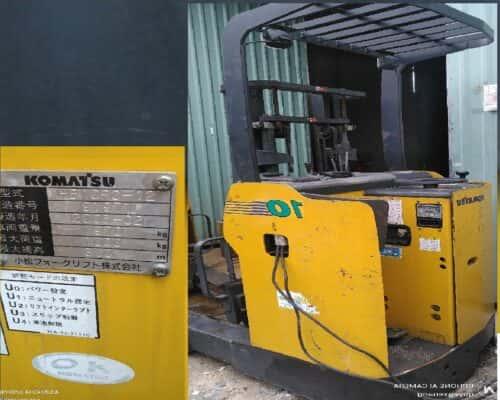 Xe nâng điện đứng lái 3m tải 1 tán hiệu Komatsu