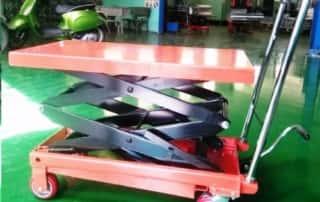 Xe nâng bàn 500kg cao 1.5m 2 tầng chữ X