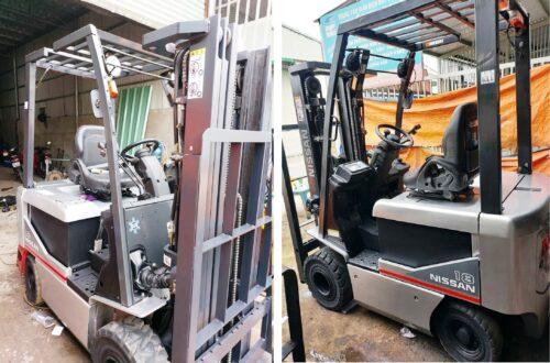 xe nâng điện nissan 1.8 tấn chui container