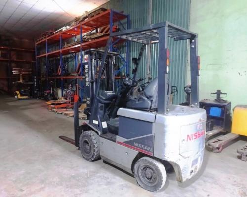 Xe Nâng Điện Nissan 4m5 tải 1,8 tấn chui container